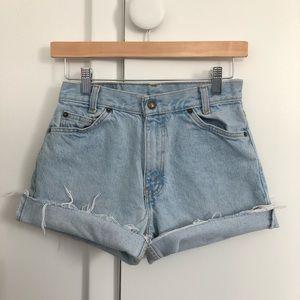 """Vintage Arizona 26"""" High Rise Cutoff Denim Shorts"""